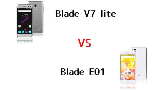 BLADE V7 LiteとBLADE E01の違いを比較してみました