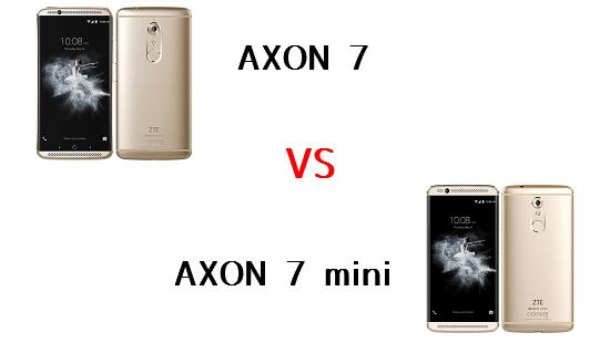 AXON 7とAXON 7 miniの違いを比較してみました