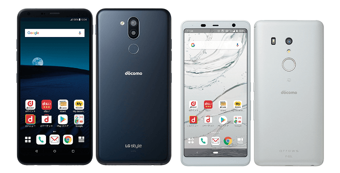 LG Style 2とarrows Be3の比較画像