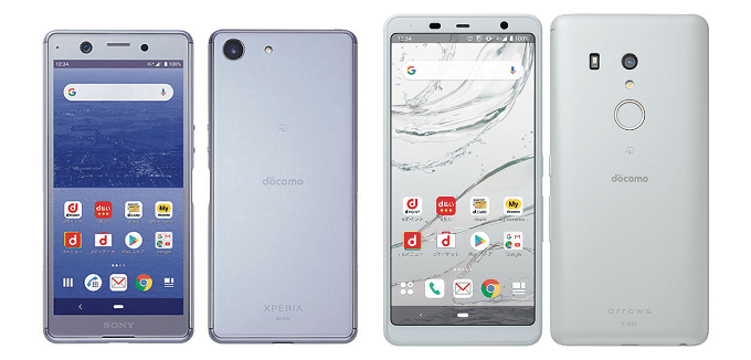 Xperia Aceとarrows Be3の比較画像