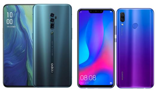 「Reno 10x Zoom」と「nova 3」のスペックの違いを比較!