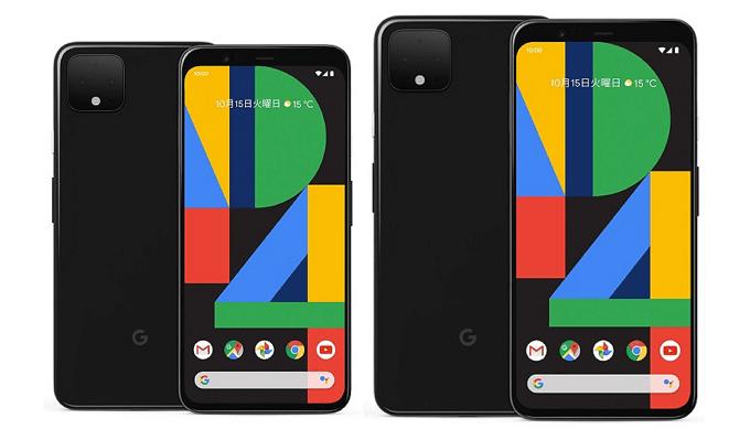 Pixel 4とPixel 4 XLの比較画像
