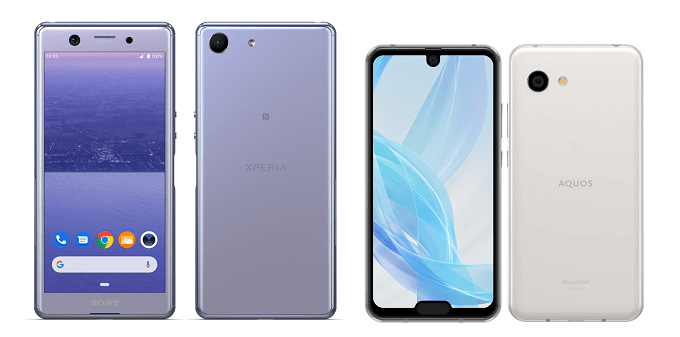 Xperia AceとAQUOS R2 compactの比較画像