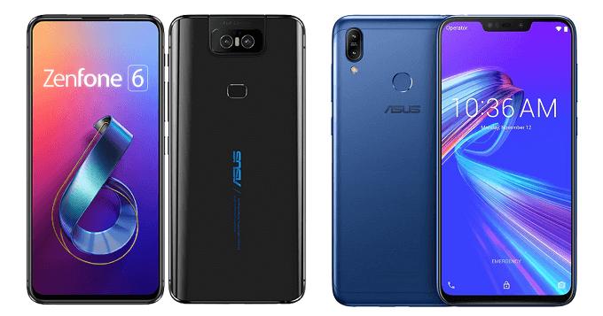 ZenFone 6とZenFone Max (M2)の比較画像