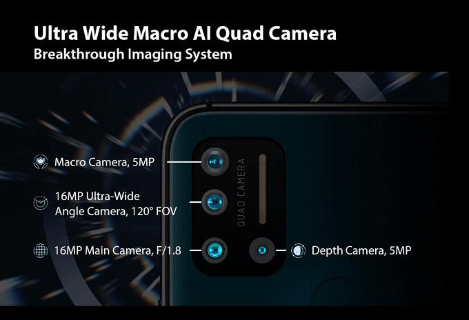 UMIDIGI A7 Proのカメラ