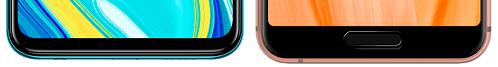 Redmi Note 9SとAQUOS sense3の下部