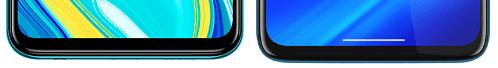 Redmi Note 9Sとmoto g8 powerの下部