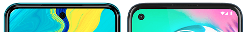 Redmi Note 9Sとmoto g8 powerの上部