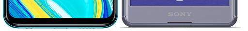 Redmi Note 9SとXperia Aceの下部