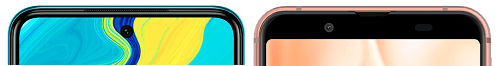 Redmi Note 9SとAQUOS sense3の上部