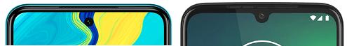 Redmi Note 9Sとmoto g8 plusの上部