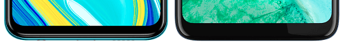 Redmi Note 9Sとmoto g8の下部