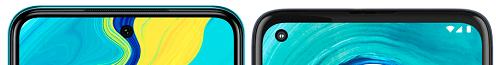 Redmi Note 9Sとmoto g8の上部