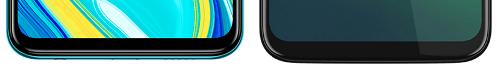 Redmi Note 9Sとmoto g8 plusの下部