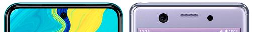 Redmi Note 9SとXperia Aceの上部