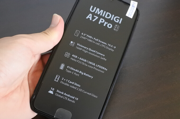 UMIDIGI A7 Proのスペック