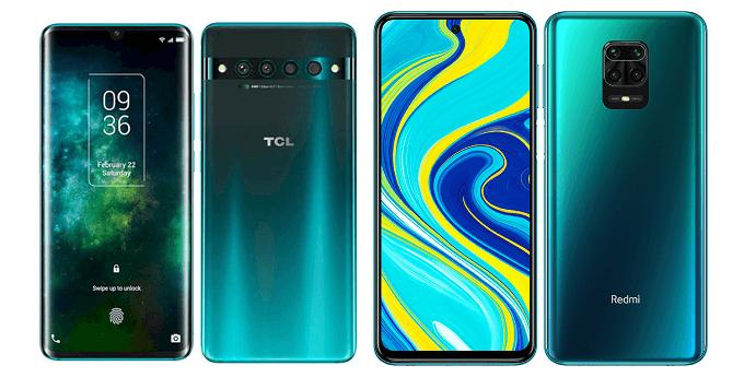 TCL 10 ProとRedmi Note 9Sの比較画像