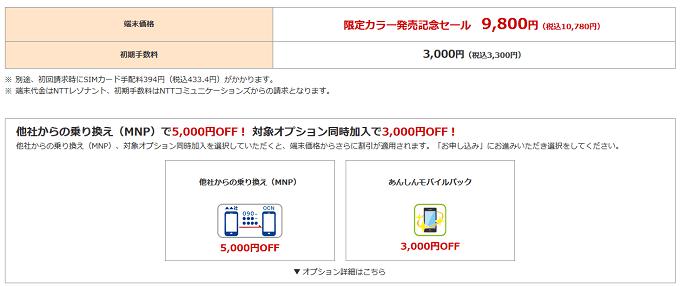 Redmi Note 9Sが最安値1,800円